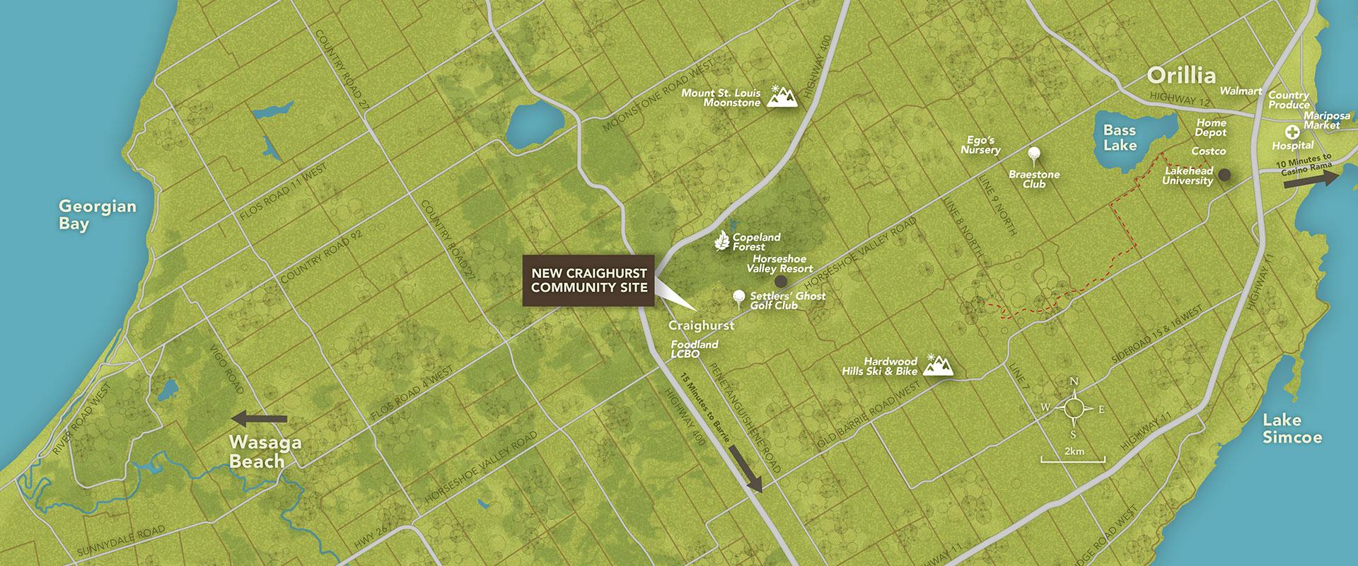 Craighurst Community Map Location